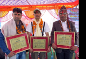 Felicitations of conservationists during Nepal Owl Festival